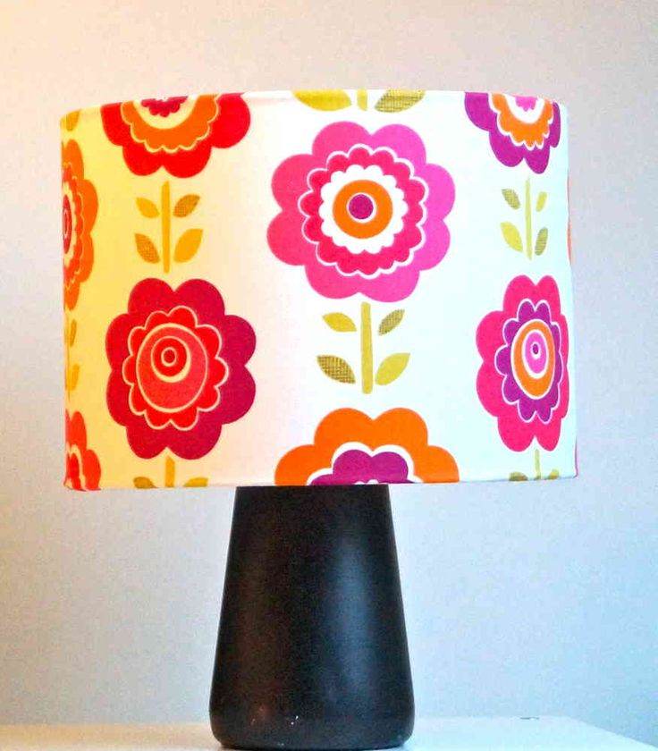 Oopsie Daisy Pink/Orange/Lime Harlequin Drum Fabric Lampshade