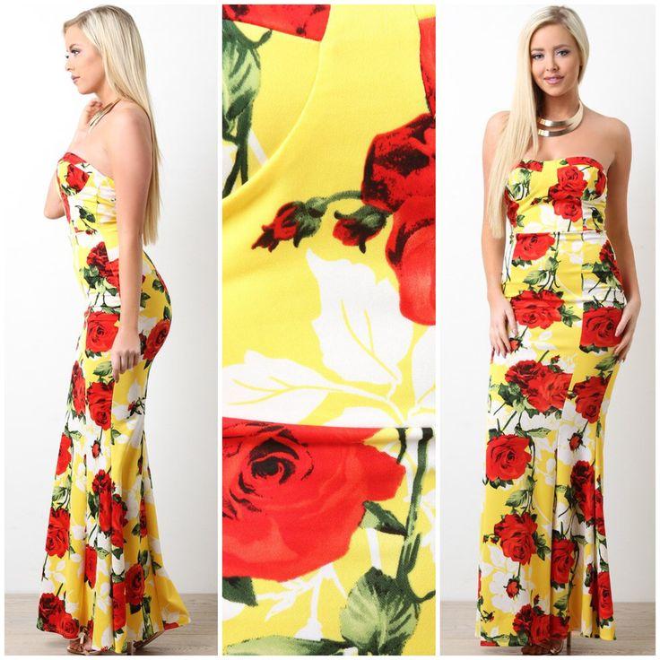 Lycra maxi dress murah