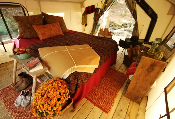 Luxury Tents Glamping Upstate in Johnsburg | Glam camping near New York, Danielle Mackey we are totally getting a group together next year to do this!