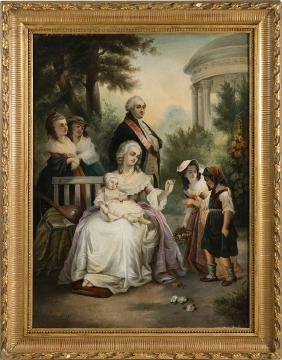 Lot: JOSEF HAIER (1816-1891) - [Marie Antoinette, Louis XIV, Lot Number: 0447, Starting Bid: €1,200, Auctioneer: Marques Dos Santos, Lda, Auction: Fine Antiques & Works of Art, Date: June 29th, 2017 EDT