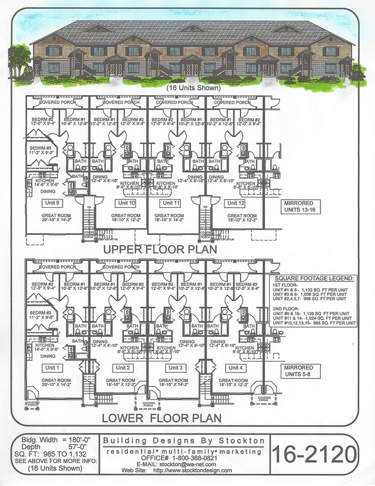 Building designs by stockton plan 16 2120 apartment for Apartment complex blueprints