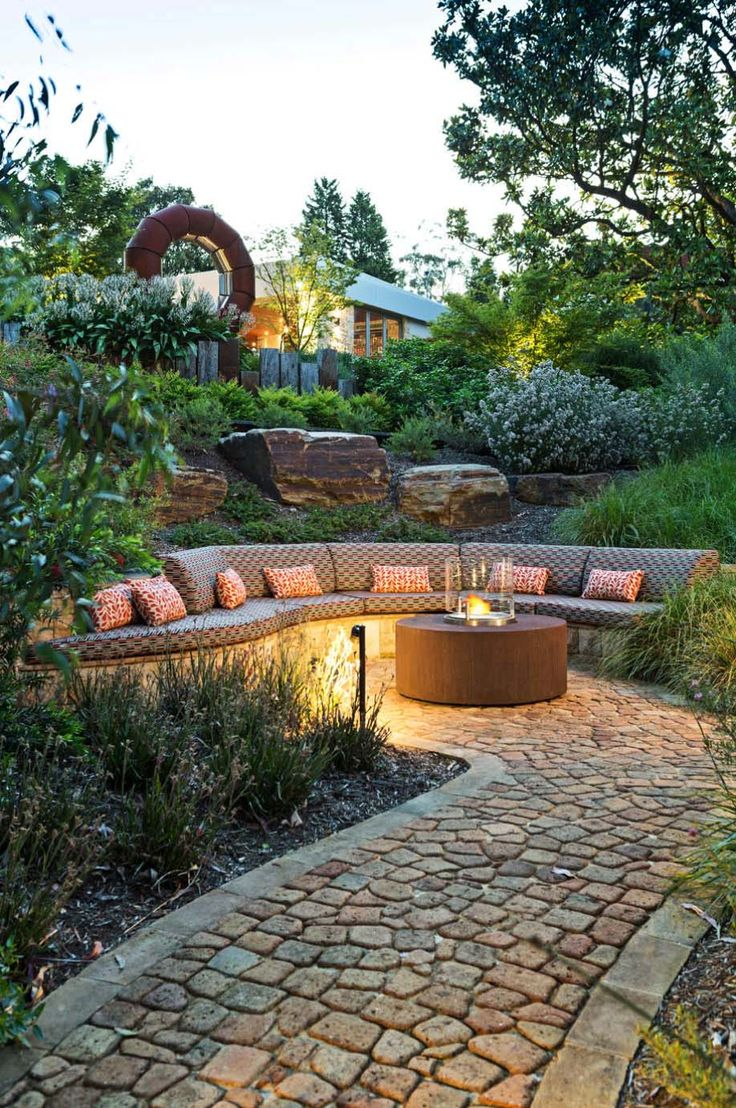 pinterest outdoor patio ideas paver patio with grill surround fire pit and stone steppers that lead - Outdoor Patio Ideas Pictures