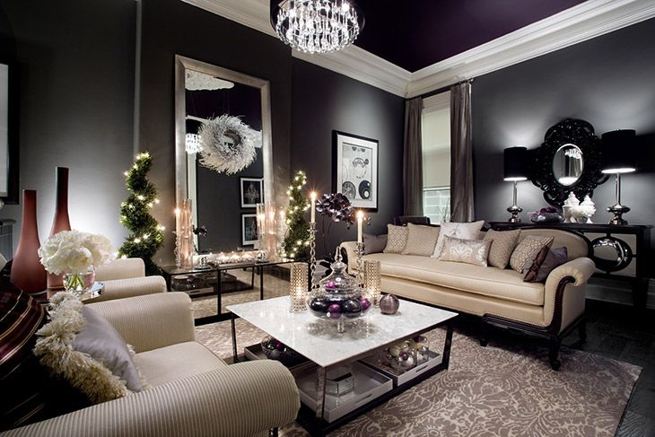 It's just so dramatic!   Living Rooms | Family Rooms | Jane Lockhart Interior Design