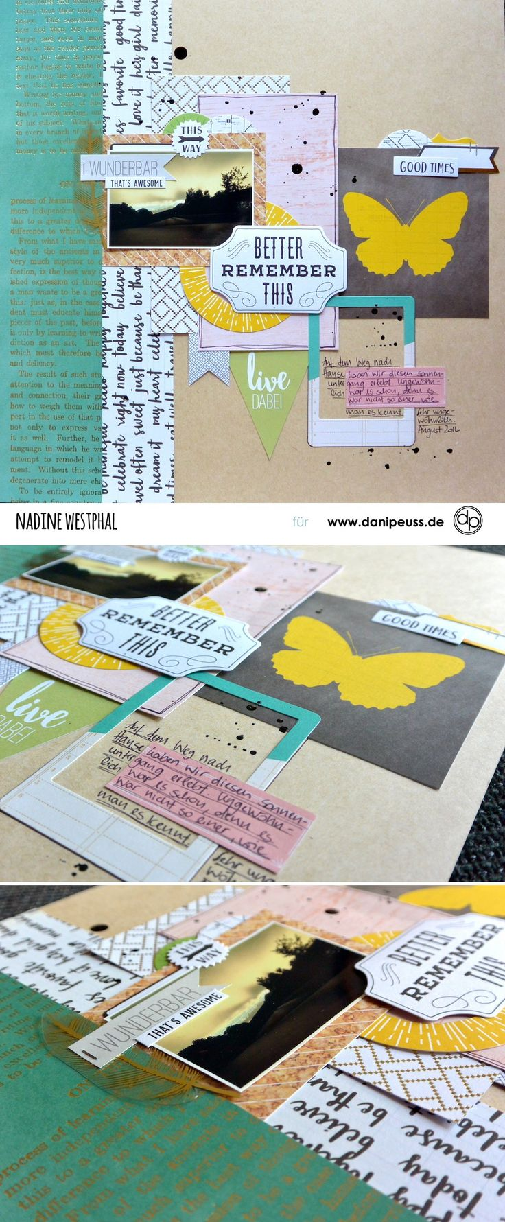 Scrapbooking Layout mit dem Junikit | von Nadine Westphal für www.danipeuss.de