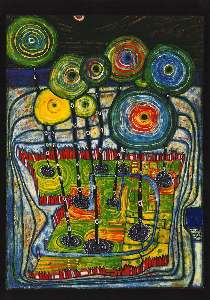 Hundertwasser -  he is my all time favourite still, after all these years Mine too !!! Forever RIP