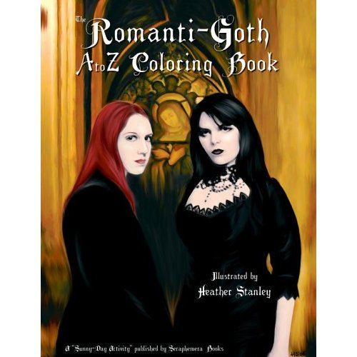 the fun gothic coloring book