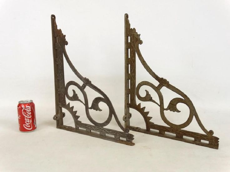 Pair Victorian Iron Shelf Brackets