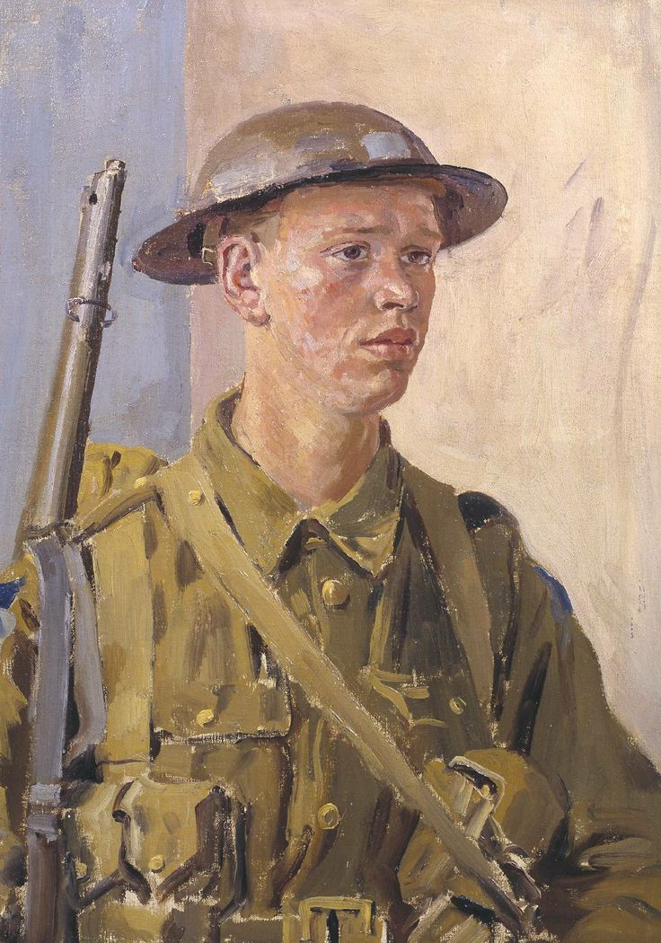 Augustus John OM, 'A Canadian Soldier' 1918. Don't forget, many soldiers are barely more than children.