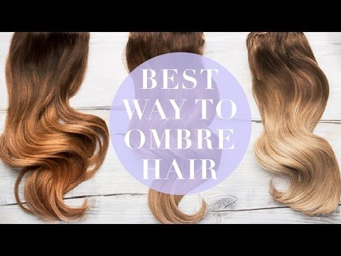 The Best Way to Ombre Hair Extensions | Dirty Looks Hair Extensions, Hair Tutori…