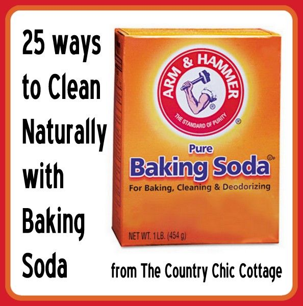 25 Ways to Naturally Clean with Baking Soda - * THE COUNTRY CHIC COTTAGE (DIY, Home Decor, Crafts, Farmhouse)    Love # 22!