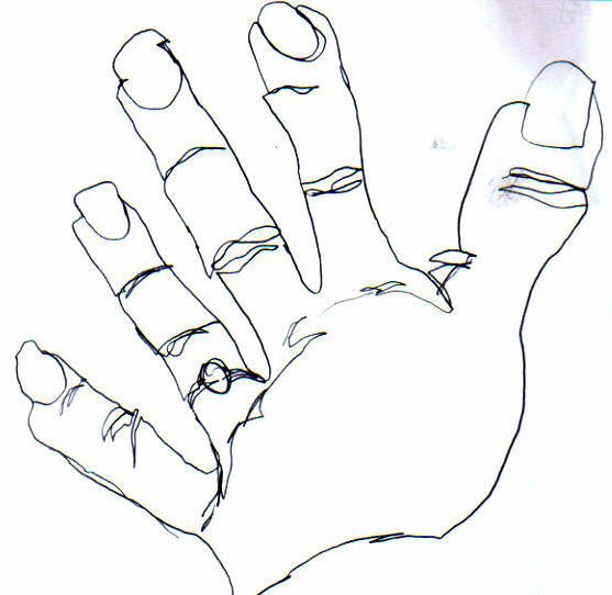 Blind Contour Line Drawing Definition : Best images about visual stuff the drawing hand on