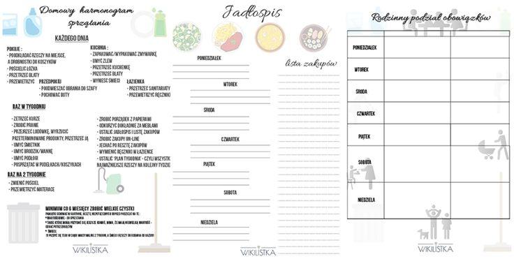 Znalezione obrazy dla zapytania tablica rodzinna obowiazków domowych
