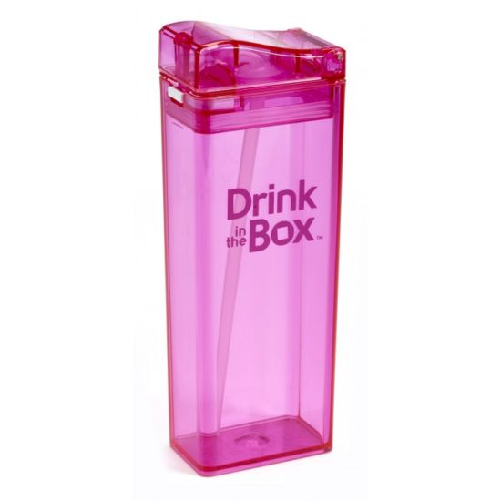 Juice boxes are loaded with sugar. Let's get environmentally friendlier with these refillable Drink in the boxes. Available in orange, blue, green and pink. #Drinkinthebox #sippycup #toddlers