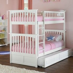 White Classic Arch Slatted Bunk Bed ♥ Discover the season's newest designs and inspirations by Rosenberry. | Visit us at http://kidsbedroomideas.eu/ #furnituredesign #kidbedroom #kidsroom #kidfriendly #bedroomdecor