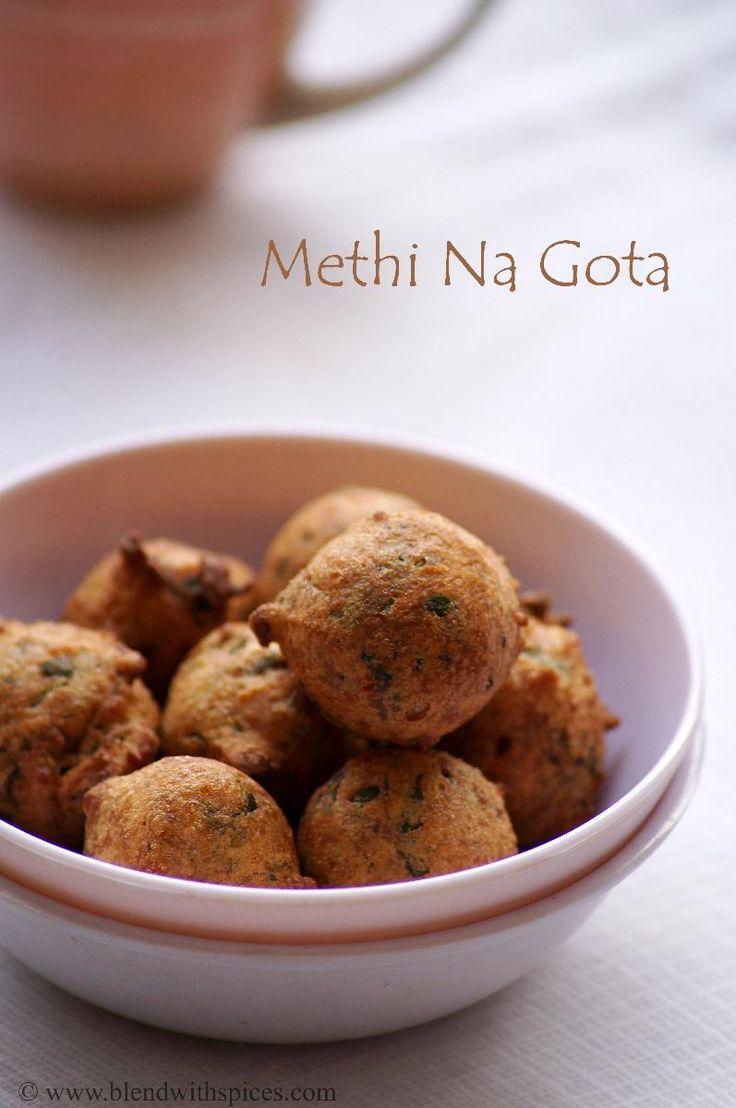Methi Na Gota Recipe - Gujarati Style Methi Pakoda - Step by Step Pictures - Gujarati Recipes   Indian Cuisine