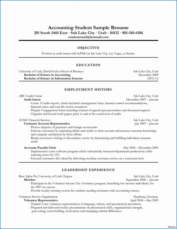 psychology student resume examples