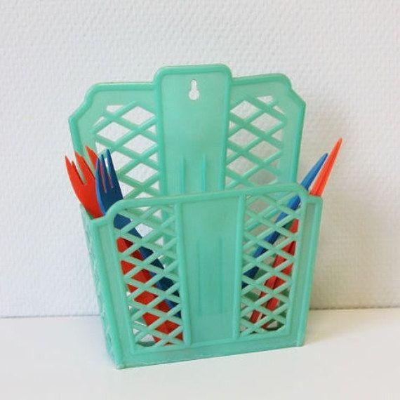 Range couverts en plastique range éponge panier plastique