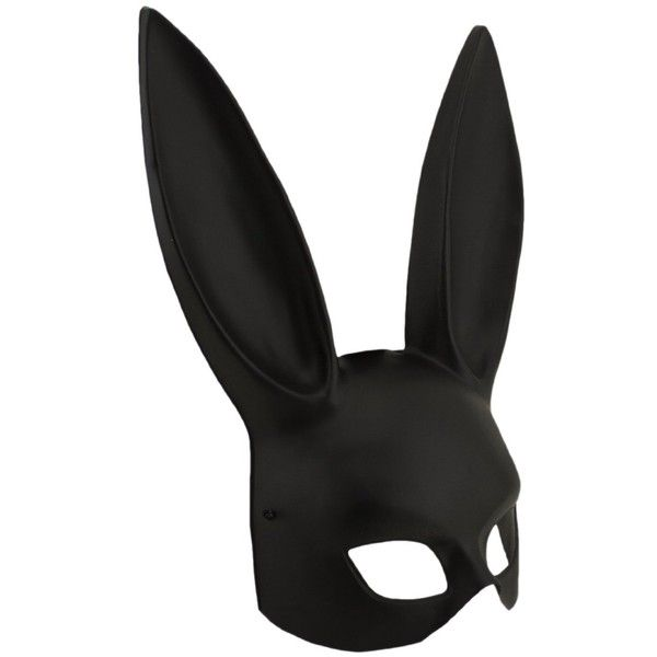 Adorox Sexy Bondage Masquerade Bunny Rabbit Mask Adult Halloween... ($14) ❤ liked on Polyvore featuring costumes, sexy bunny costume, adult halloween costumes, black costume, masquerade costumes and sexy halloween costumes