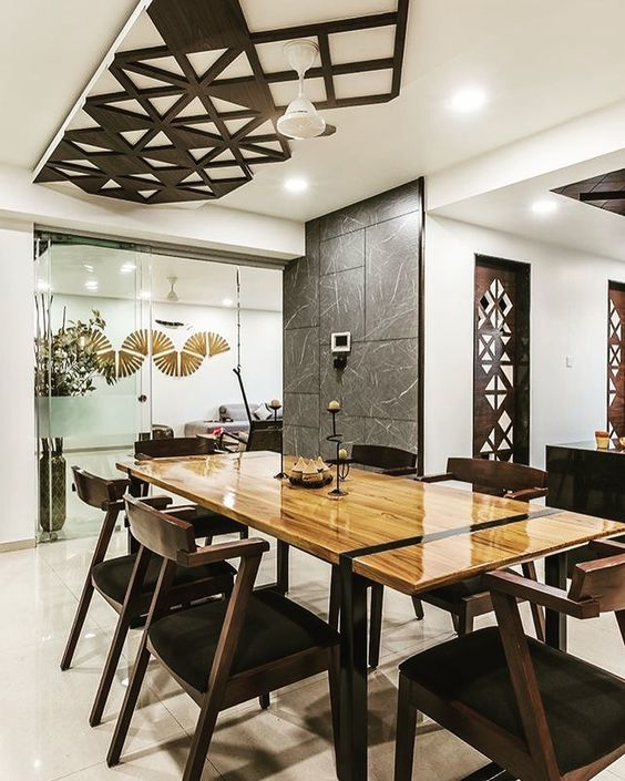 23 Dining Room Ceiling Designs Decorating Ideas: Beautiful Lattice Ceiling In Dining Room #DiningRoom