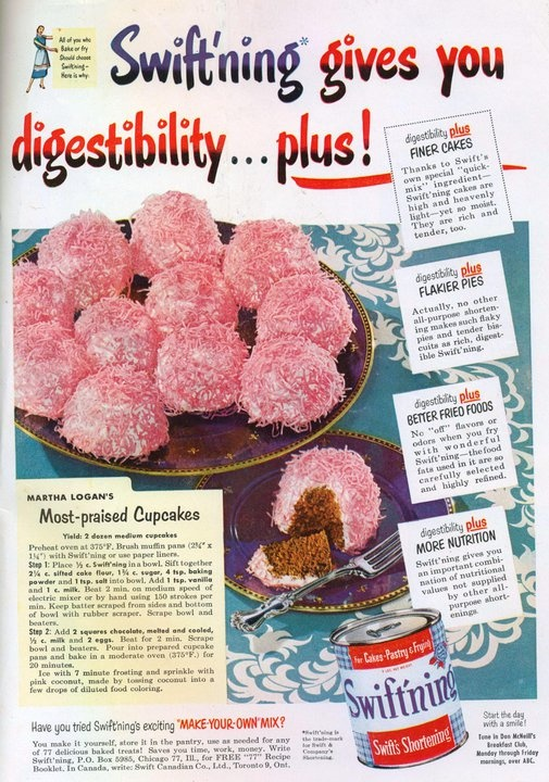 "I love vintage cake recipes... and I also remember shortening cans with the ""key"" to open the top."