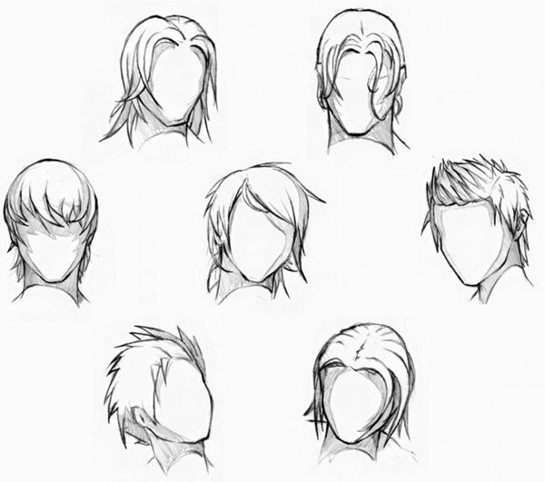 Simple Hairstyles Drawing Drawing Hairstyles Simple New How To Draw Hair Hair Reference Drawings