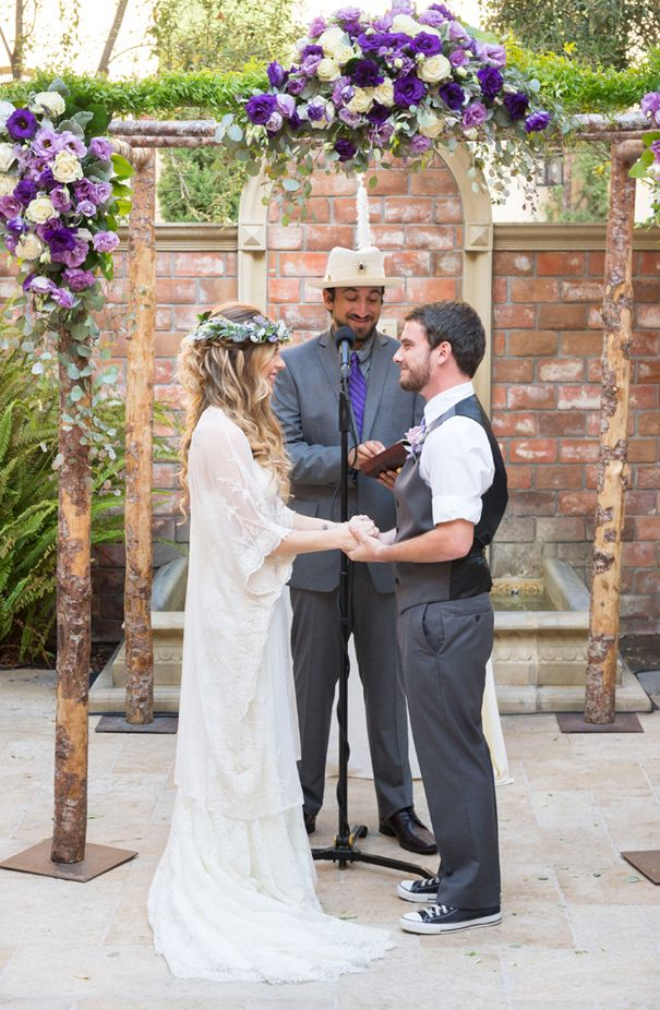 Rustic Manhattan Beach Wedding Ceremony at Ayres Hotel | Peterson Design & Photography | See more on My Hotel Wedding: https://www.myhotelwedding.com/blog/2016/11/15/manhattan-beach-wedding-ayres-hotel