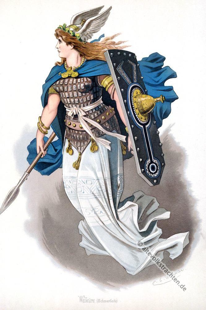 Die Walküren. Kostümentwürfe für Der Ring des Nibelungen.