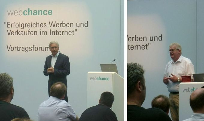 Messe WebChance 2013 Frankfurt: Über 100 Zuhörer jeweils lauschten den Vorträgen von Fleischermeister Ludger Freese und mir, darunter viele Einzelhändler und Webmarketing-Leute. http://www.malerische-wohnideen.de/blog/zwei-handwerk20-vortraege-auf-der-messe-webchance-in-frankfurt.html