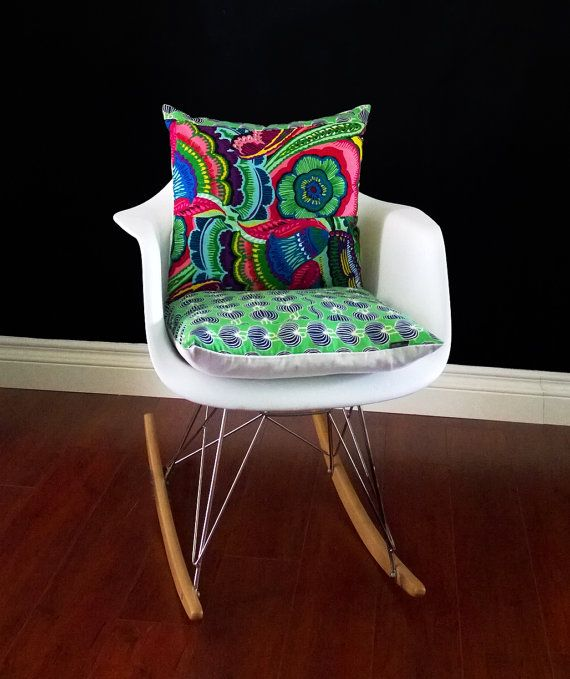 Eames Chair Cushion Cover, Jungle Fever by RockinCushions on Etsy, $44.00