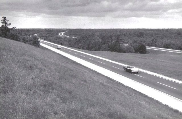 Oh, for it to be like this now; this photo of the Garden State Parkway near Brick was taken in the 1950s. Courtesy of George Alznauer