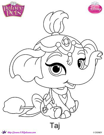 Disney princess palace pets taj coloring page skgaleana for Princess pets coloring pages