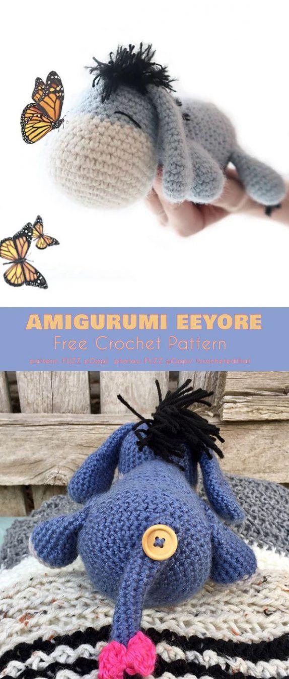 Amigurumi Eeyore Free Crochet Pattern