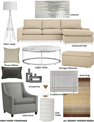grey and tan - living room ... how to get the grey/tan to work together