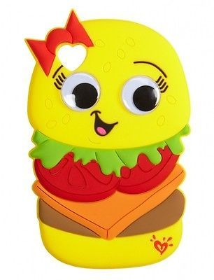 NEW! Justice Cute 3D Cheeseburger Case Skin for iPod Touch 4 4G 4th Generation
