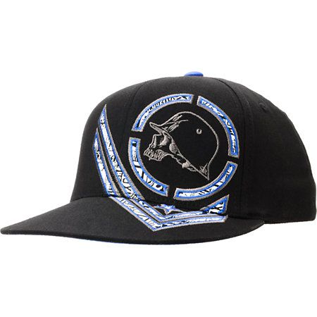 "The Alert Flexfit hat from Metal Mulisha in the black and blue colorway is ready for action no matter where you ride. The Scrape Flexfit hat features a custom Metal Mulisha skull embroidery with printed detailing on the front along with ""Metal Mulisha"" printed on the underside of the bill for added high speed style!"