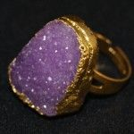 Natural Stone Statement Ring – Light Purple R160