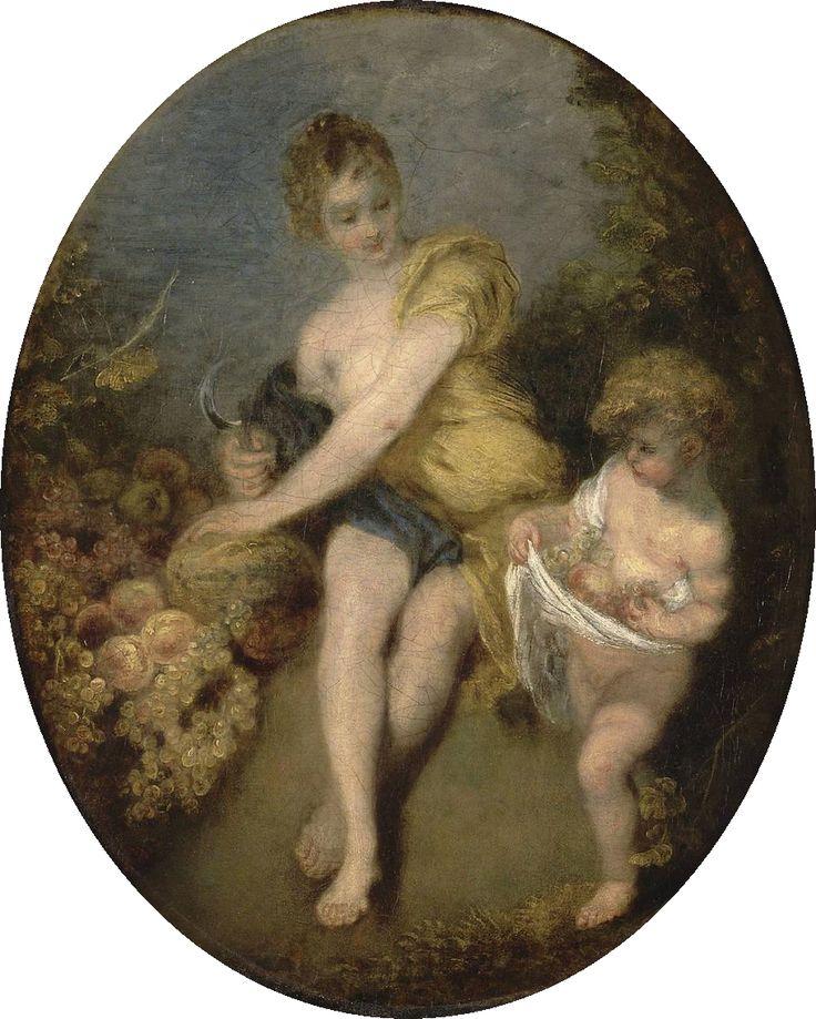 Antoine Watteau (French 1684–1721) Autumn, 1716. Musée du Louvre, Paris.