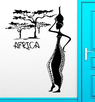 Wall Decal Africa African Woman Female Vinyl Stickers Art Mural (ig2540)