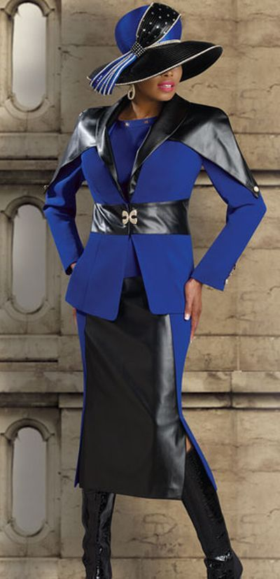 Image detail for -Donna Vinci Couture 5410 Womens Church Suit with Faux Leather