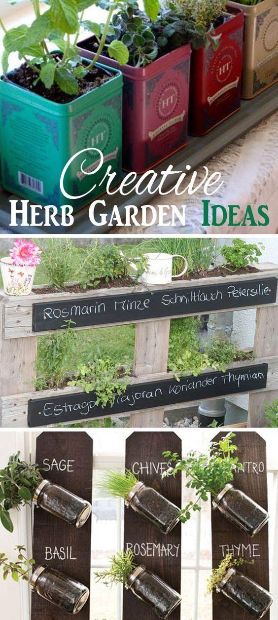 9 Creative Herb Garden Ideas Crafts And Diy Pinterest Ideas