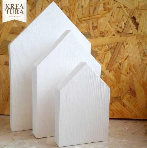 #niezchinzpasji Komplet domków drewnianych w kolorze białym w by Kreatura na DaWanda.com