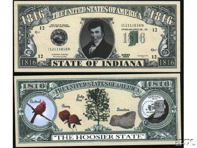 Set of 10 Bills-1816 Indiana State Bill by Novelties Wholesale. $0.49. ###############################################################################################################################################################################################################################################################