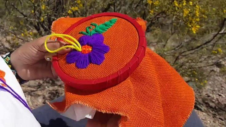 BORDADO MEXICANO EN ARPILLERA - PUNTO PETATILLO 1X 1
