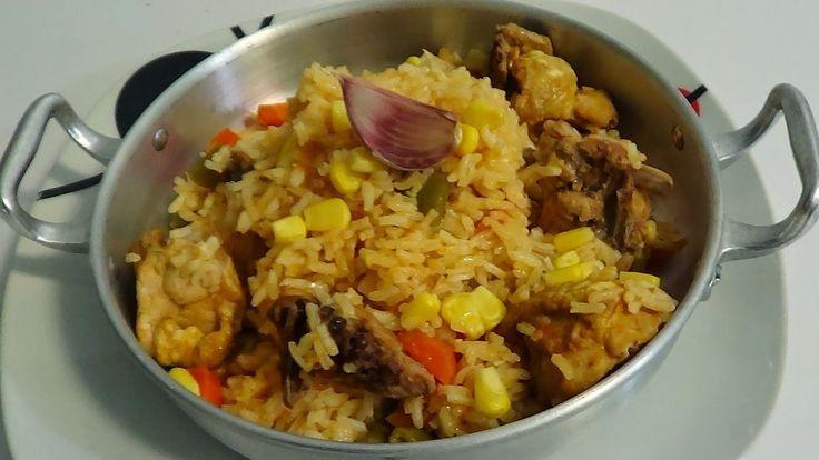 cozinha talento: Receita de arroz de galinha com vinho e milho doce...