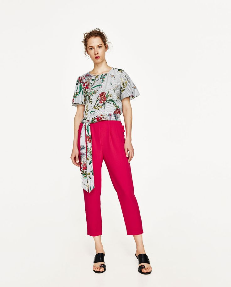 TROUSERS WITH PLEATED WAIST-View All-TROUSERS-WOMAN | ZARA United States