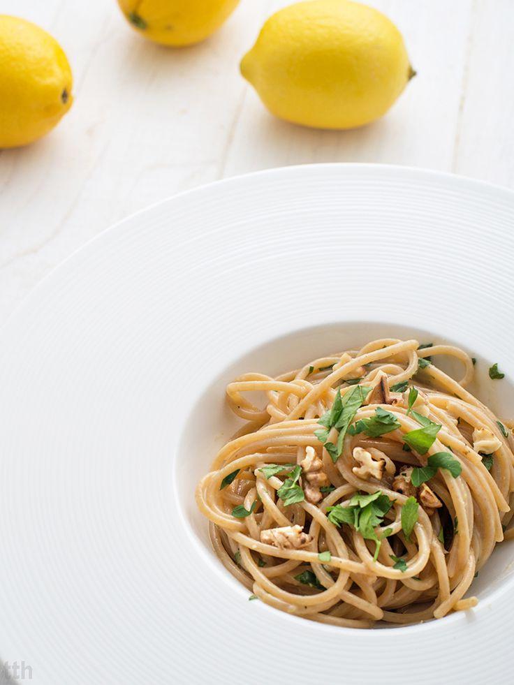 true taste hunters - kuchnia wegańska: Cytrynowe spaghetti (wegańskie, bezglutenowe)