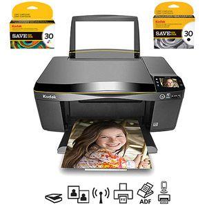 Kodak ESP3.2 Inkjet Multifunction Printer/Copier/Scanner/ with Compatible Ink Cartridges Value Bundle
