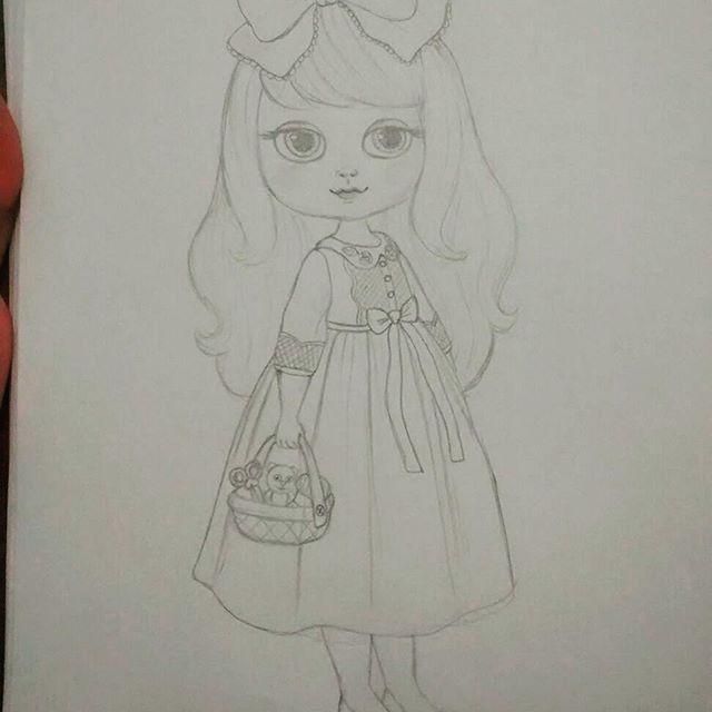 scketch, draw, drawing , design, cute, cutedesign, littlegirl, illustration, desenho, rabisco, lapis, art