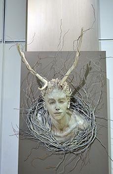 Unisa Art Gallery - CANSA Art Exhibition - Artwork by Joyce Carreira - Photograph by Philip van der Merwe