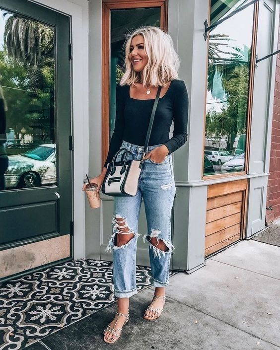 spring outfits with jeans